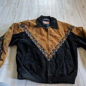 Vintage Cripple Creek Jacket Aztec Leather Suede W